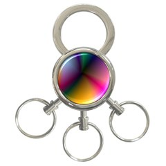 Prism Rainbow 3 Ring Key Chain