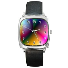 Prism Rainbow Square Leather Watch