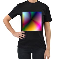 Prism Rainbow Women s Two Sided T-shirt (Black)