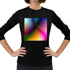 Prism Rainbow Women s Long Sleeve T Shirt (dark Colored)