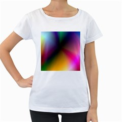 Prism Rainbow Women s Loose Fit T Shirt (white)