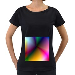 Prism Rainbow Women s Loose-Fit T-Shirt (Black)