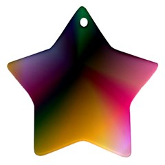 Prism Rainbow Star Ornament (Two Sides)
