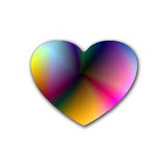 Prism Rainbow Drink Coasters 4 Pack (heart)