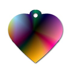Prism Rainbow Dog Tag Heart (one Sided)
