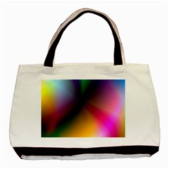 Prism Rainbow Twin-sided Black Tote Bag