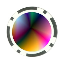 Prism Rainbow Poker Chip