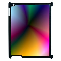 Prism Rainbow Apple Ipad 2 Case (black)