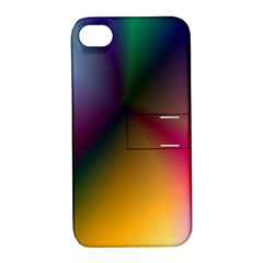 Prism Rainbow Apple Iphone 4/4s Hardshell Case With Stand