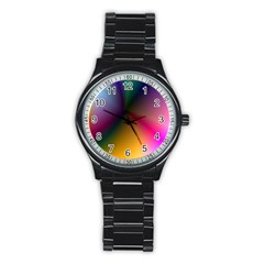 Prism Rainbow Sport Metal Watch (Black)
