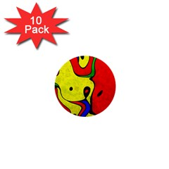 Abstract 1  Mini Button (10 Pack)