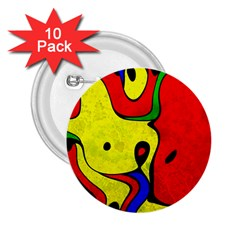 Abstract 2 25  Button (10 Pack)