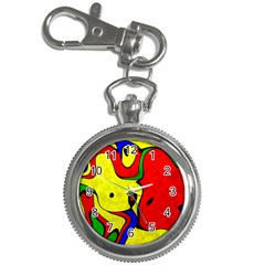 Abstract Key Chain Watch
