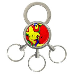 Abstract 3 Ring Key Chain