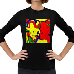 Abstract Women s Long Sleeve T Shirt (dark Colored)