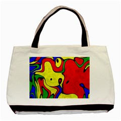 Abstract Twin-sided Black Tote Bag
