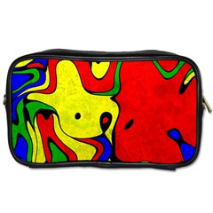 Abstract Travel Toiletry Bag (Two Sides)
