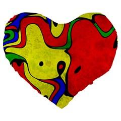 Abstract 19  Premium Heart Shape Cushion