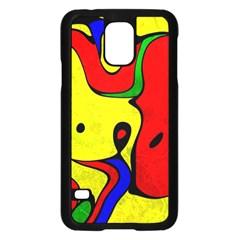 Abstract Samsung Galaxy S5 Case (Black)