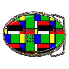 Mondrian Belt Buckle (Oval)