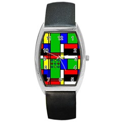 Mondrian Tonneau Leather Watch