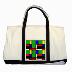 Mondrian Two Toned Tote Bag