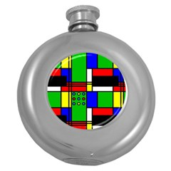 Mondrian Hip Flask (Round)