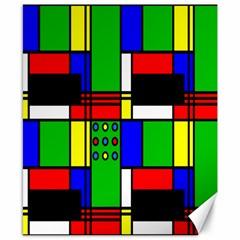 Mondrian Canvas 8  X 10  (unframed)