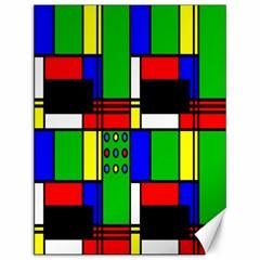 Mondrian Canvas 12  X 16  (unframed)