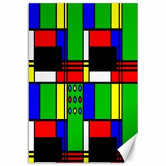 Mondrian Canvas 12  x 18  (Unframed)
