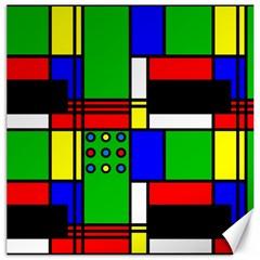 Mondrian Canvas 16  x 16  (Unframed)