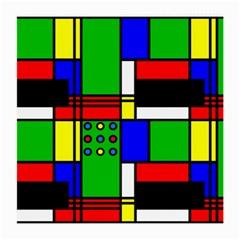Mondrian Glasses Cloth (Medium, Two Sided)