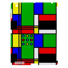 Mondrian Apple Ipad 3/4 Hardshell Case (compatible With Smart Cover)