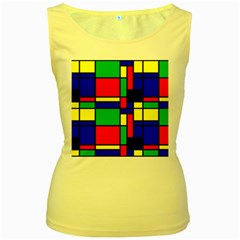 Mondrian Women s Tank Top (Yellow)