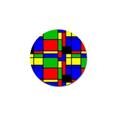 Mondrian Golf Ball Marker