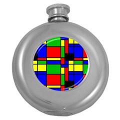 Mondrian Hip Flask (round)