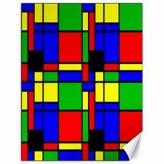 Mondrian Canvas 18  x 24  (Unframed)
