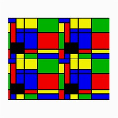 Mondrian Glasses Cloth (Small, Two Sided)
