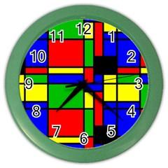 Mondrian Wall Clock (color)
