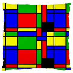 Mondrian Large Cushion Case (two Sided)