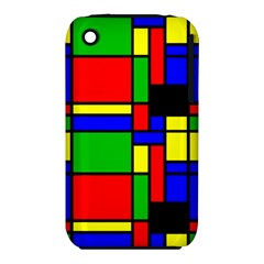 Mondrian Apple Iphone 3g/3gs Hardshell Case (pc+silicone)