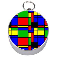 Mondrian Silver Compass