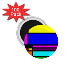Mondrian 1.75  Button Magnet (100 pack)