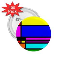 Mondrian 2.25  Button (100 pack)