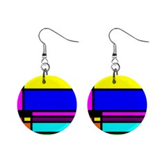 Mondrian Mini Button Earrings