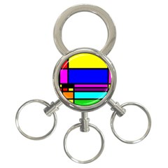 Mondrian 3 Ring Key Chain