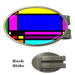 Mondrian Money Clip (Oval)