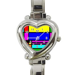 Mondrian Heart Italian Charm Watch