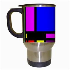 Mondrian Travel Mug (white)