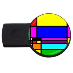 Mondrian 4gb Usb Flash Drive (round)